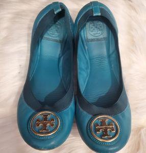 Tory Burch Blue Flats